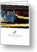 Ontario Mixed Media Greeting Cards - Killarney Ontario Poster Series Greeting Card by Bob Salo