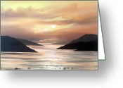 Co Galway Greeting Cards - Killary Sunset May Greeting Card by Cathal O malley