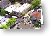 Chestnut Hill Wyndmoor Blue Bell Aerial Photographs Greeting Cards - Killians Hardware 8450 Germantown Avenue Philadelphia PA 19118 3388 Greeting Card by Duncan Pearson