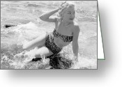 Fashion Model Photography Greeting Cards - Kim Leslie Greeting Card by Dennis Rowe