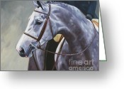 Horse Show Greeting Cards - Kind Eye Greeting Card by Janet  Crawford