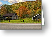 Chewing Tobacco Greeting Cards - Kindred Barns Greeting Card by Steve Harrington