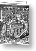 Round Table Greeting Cards - King Arthur & Knights Greeting Card by Granger