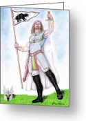 Guinevere Greeting Cards - King Arthur Greeting Card by Fabio Lion