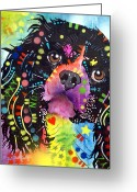 Dog Portrait Greeting Cards - King Charles Spaniel Greeting Card by Dean Russo