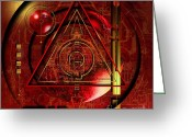 Magic  Digital Art Greeting Cards - King Crimson Greeting Card by Franziskus Pfleghart