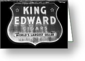 1930s Greeting Cards - King Edward Cigars Greeting Card by David Lee Thompson