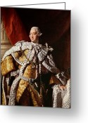 Posh Painting Greeting Cards - King George III Greeting Card by Allan Ramsay