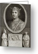 1100s Greeting Cards - King Henry Ii Of England Greeting Card by Middle Temple Library
