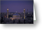 Hussein Greeting Cards - King Hussein Mosque In Amman, Jordan Greeting Card by Richard Nowitz