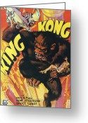 1933 Movies Greeting Cards - King Kong Greeting Card by Nomad Art and  Design