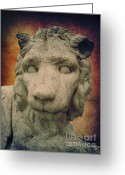 Sick Greeting Cards - King Lion Greeting Card by Angela Doelling AD DESIGN Photo and PhotoArt