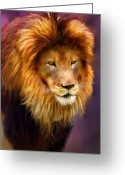 Pride Painting Greeting Cards - King Greeting Card by Michael Greenaway