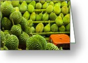 Durian Greeting Cards - King Of Fruits Greeting Card by Simonlong