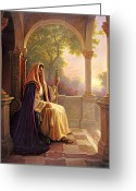 Lords Greeting Cards - King of Kings Greeting Card by Greg Olsen