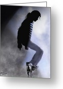 Michael Jackson Greeting Cards - King of Pop Greeting Card by Alicia Mullins