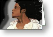 Michael Jackson Greeting Cards - King Of Pop King of The Universe Greeting Card by Diva Chavez
