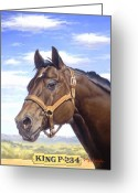 Quarter Horse Greeting Cards - King P234 Greeting Card by Howard Dubois