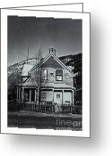 Dawson City Greeting Cards - King Street Greeting Card by Priska Wettstein