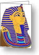 Tutankhamen Greeting Cards - King Tut Greeting Card by Lana Sundman