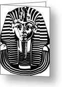 Tutankhamen Greeting Cards - King Tutankhamun Mask Greeting Card by Stock Foundry