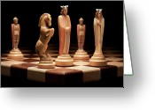 Chess Game Greeting Cards - Kings Court I Greeting Card by Tom Mc Nemar