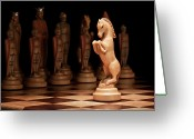 Chess Game Greeting Cards - Kings Court II Greeting Card by Tom Mc Nemar