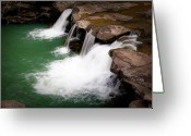 Tamyra Ayles Greeting Cards - Kings River Falls Greeting Card by Tamyra Ayles