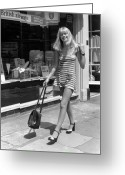 Fashion Model Photography Greeting Cards - Kings Road Model Greeting Card by O