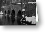 Kingston Greeting Cards - Kingston Bridge Greeting Card by Steven Richman