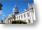 Downtown Kingston Greeting Cards - Kingston City Hall Greeting Card by Charline Xia