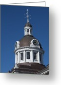 Kingston City Hall Greeting Cards - Kingston City Hall Dome Greeting Card by Michel Soucy