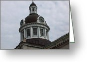Kingston City Hall Greeting Cards - Kingston City Hall Greeting Card by Donna Sherbert