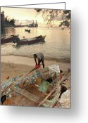 Kingston Greeting Cards - Kingston Jamaica beach Greeting Card by Brett Winn