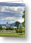 Kingston Greeting Cards - Kingston Lighthouse Greeting Card by Donna Lee Blais