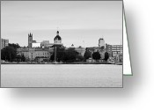 Downtown Kingston Greeting Cards - Kingston Waterfront Greeting Card by Michel Soucy