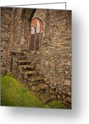 Stained Glass Ireland Greeting Cards - Kinsale Ireland Church Greeting Card by Patrick  Flynn