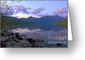Purple Clouds Greeting Cards - Kintla Lake Komfort Greeting Card by Scott Hansen