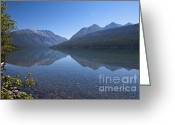 Glacier Greeting Cards - Kintla Lake Greeting Card by Scott Hansen