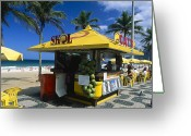 Delicacy Greeting Cards - Kiosk on Ipanema Beach Greeting Card by George Oze