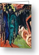1913 Greeting Cards - Kirchner: Street Scene Greeting Card by Granger