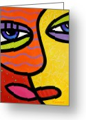 Pink Painting Greeting Cards - Kiss and Smell Greeting Card by Steven Scott