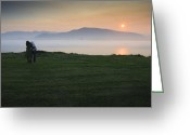 Amor Photo Greeting Cards - Kiss at sunset Greeting Card by Fernando Alvarez