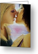 Lesbian Greeting Cards - Kiss Number One Greeting Card by Forrest King