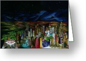 Lipsticks Greeting Cards - Kiss of Las Vegas Greeting Card by Mary Jo Jung