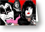 Rock And Roll Greeting Cards - Kiss of the Demon Greeting Card by Jason Kasper