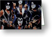 Make-up Photo Greeting Cards - Kiss Greeting Card by Paul Ward
