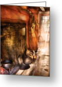 Cook Greeting Cards - Kitchen -  Colonial Kitchen II Greeting Card by Mike Savad
