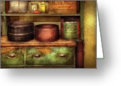 Chest Greeting Cards - Kitchen - Food - The cake chest Greeting Card by Mike Savad