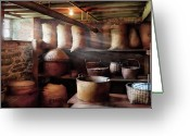 Stores Greeting Cards - Kitchen - Storage - The grain cellar  Greeting Card by Mike Savad